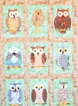 21 best Owl quilts images on Pinterest | Owl, Autumn and Baby owls : owl pattern quilt - Adamdwight.com