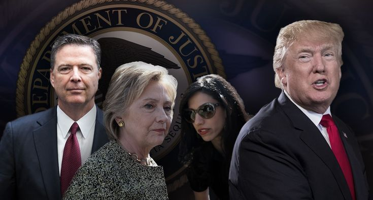 President Trump began his first full day of 2018 by attacking the Department of Justice while relaying a new report about the handling of sensitive emails by Huma Abedin, Hillary Clinton's top aide.