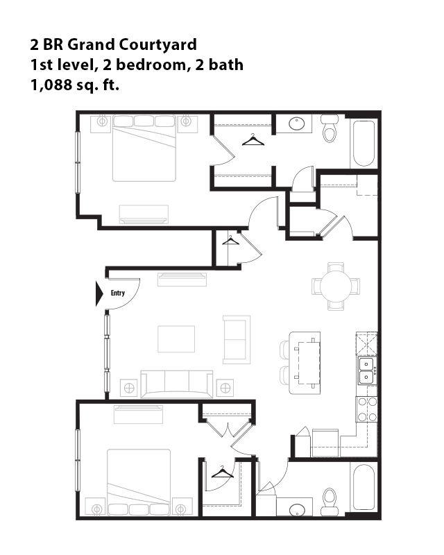 bedroom grand courtyard apartment in san antonio tx