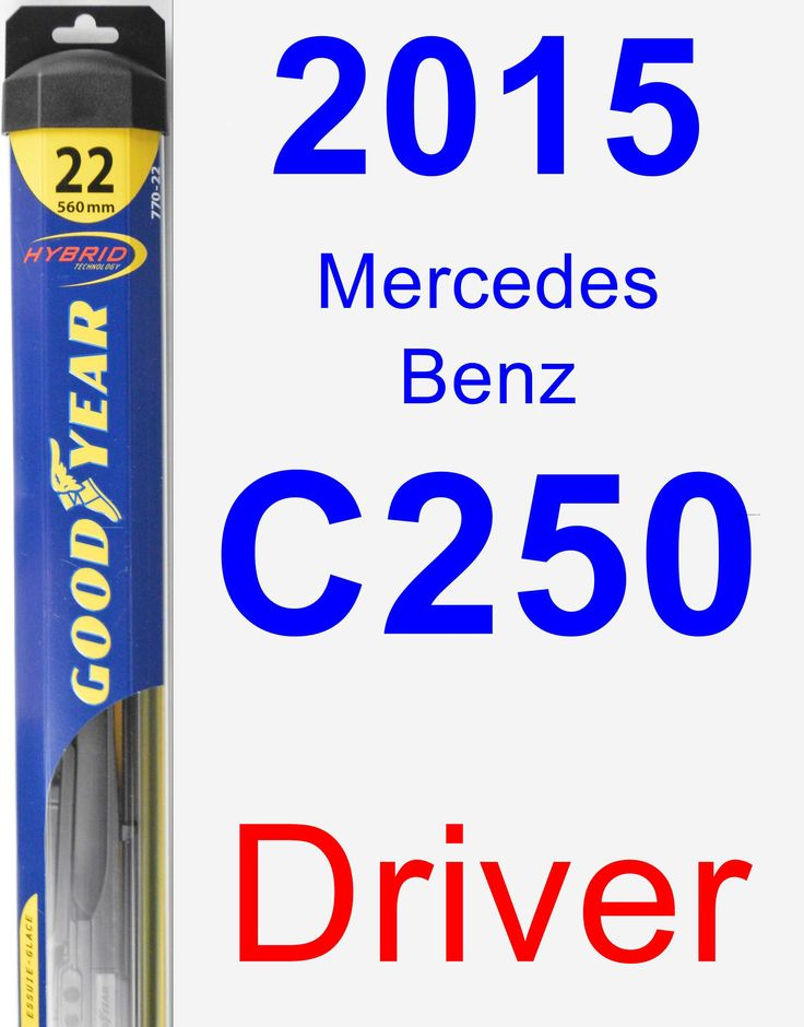 Driver Wiper Blade for 2015 Mercedes-Benz C250 - Hybrid