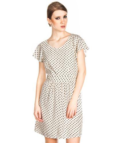 Vestidos Vero Moda Selinas Beige/Negro en Nice & Crazy