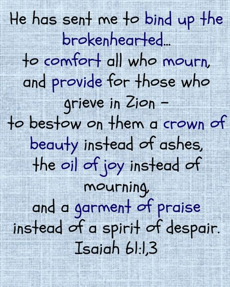 day 8; Isaiah 61:1, 3; grief
