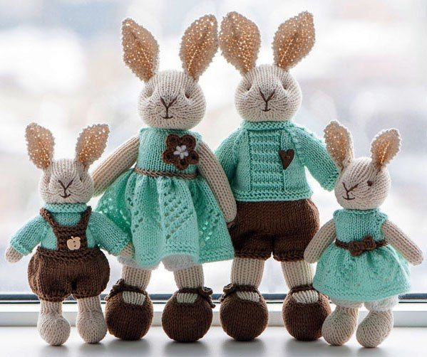 Knitting Patterns To Make Animals : 25+ best ideas about Knit animals on Pinterest Knitted animals, Crochet ani...