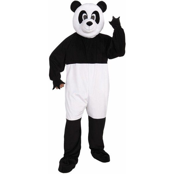 Panda Mascot Costume (4.375 RUB) ❤ liked on Polyvore featuring costumes, halloween costumes, white halloween costumes, mascot costumes, sports costumes, mascot halloween costumes and white costumes