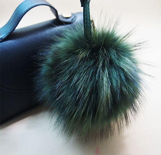 Free shipping 12cm Charm Fluffy fox  Raccon fur ball pom poms key chains plush keychain car key ring Bag Purse Pendant-in Key Chains from Jewelry & Accessories on Aliexpress.com | Alibaba Group