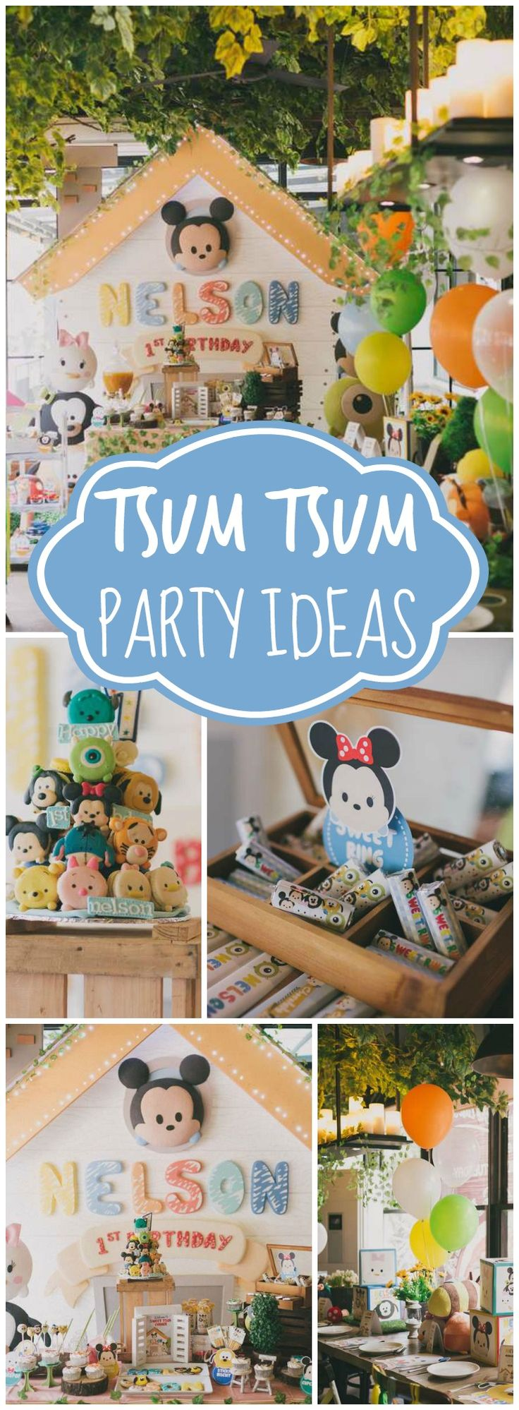 You have to see the adorable Tsum Tsum macaron tower on the first slide of this party! See more party ideas at CatchMyParty.com!
