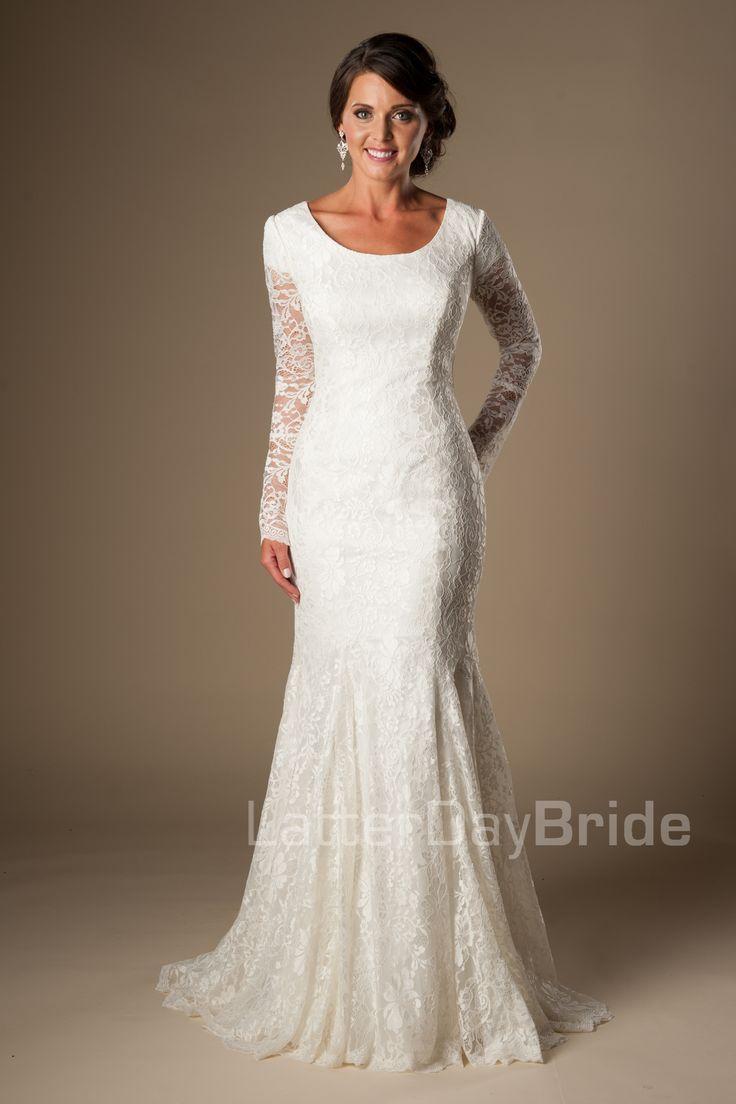 700 best white formal dress images on pinterest for Lds plus size wedding dresses