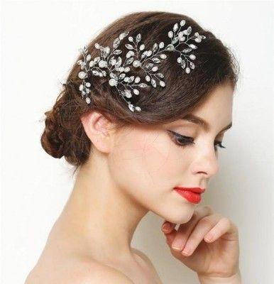 ozdoba do włosów ślubna szpilka grzebień kryształy