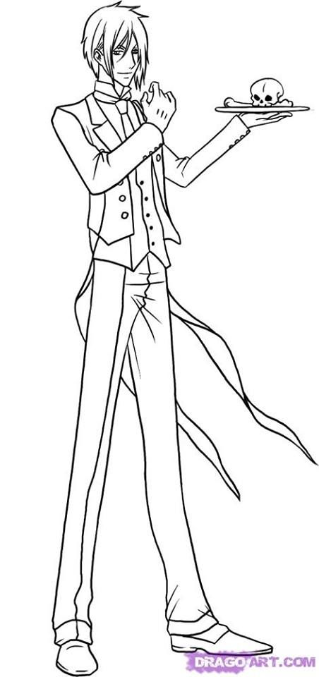 black butler coloring pages pages to color printable coloring pages coloring books colouring sheets - Black Butler Chibi Coloring Pages