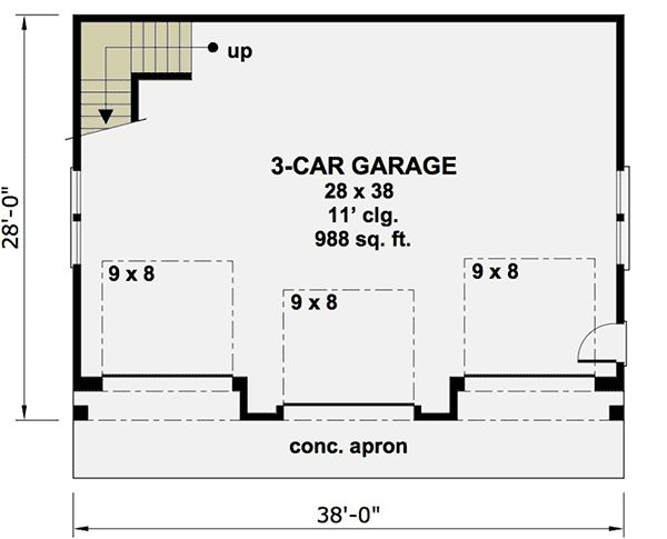 17 best images about garages on pinterest 3 car garage for 3 car carriage house plans