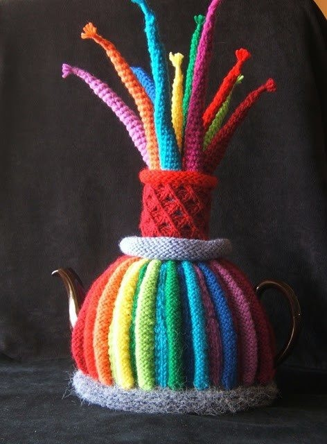 Fireworks Wooly Tea Cosy.