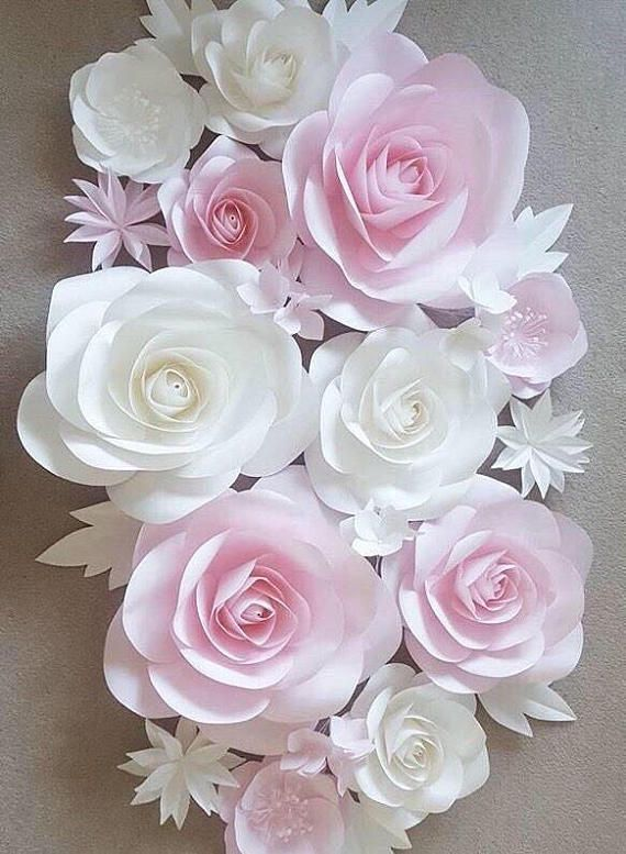 Nursery Paper Flowers Paper Flowers Wall Decor Large Paper