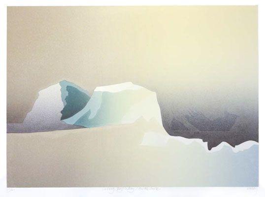 "Toni Onley,  ""Iceberg, Baffin Bay / Arctic Suite"",  Ed 59/60,  Silkscreen Print,  11 x 15 inches"