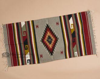 "Southwest Zapotec Indian Rug 30""""x60"""" (47)"