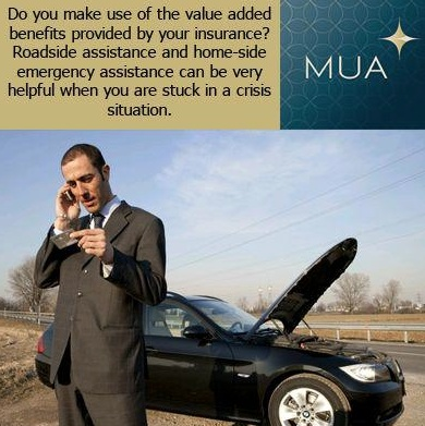 Road side assistance from your insurance company