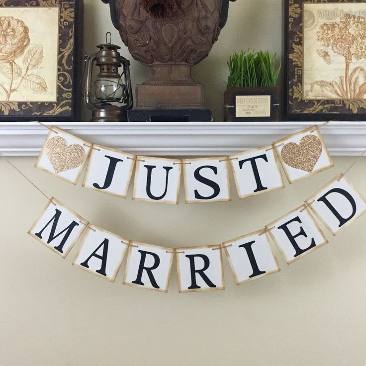 Just Married Banner, Just Married Car Sign, Wedding Banner, Just Married Sign, Champagne by WeefersDesigns on Etsy https://www.etsy.com/listing/264930119/just-married-banner-just-married-car                                                                                                                                                                                 More