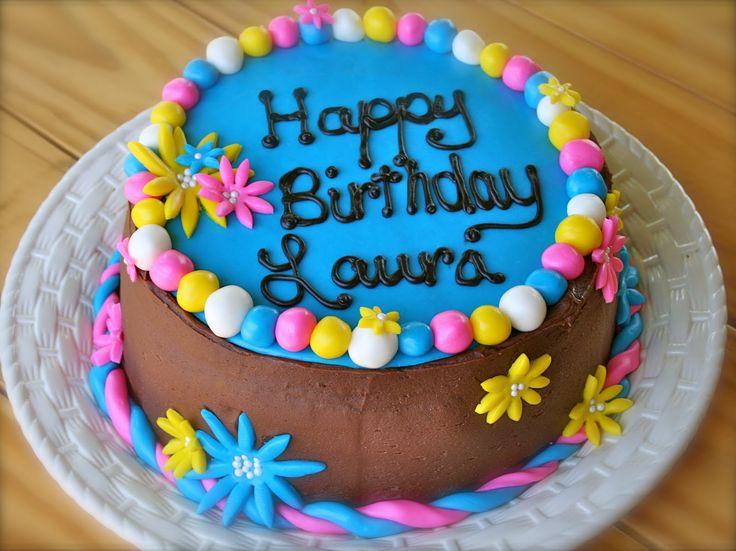 Bithday Cake Candy Coated Happy Birthday Daisy Cake