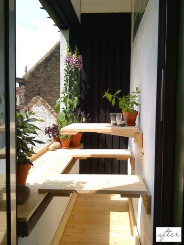 Simple way to make better use of a small balcony