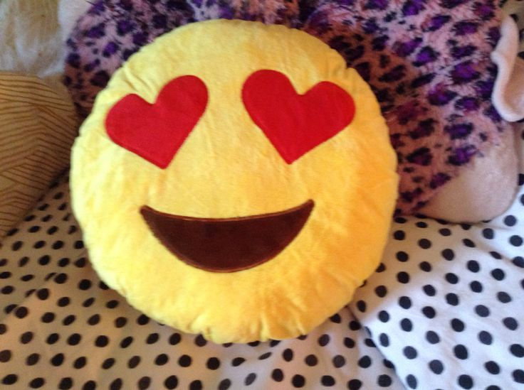 I bought this emoji pillow and it is sooo soft and I love it