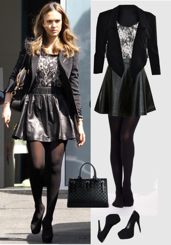 Celebrity Street Fashion Jessica Alba