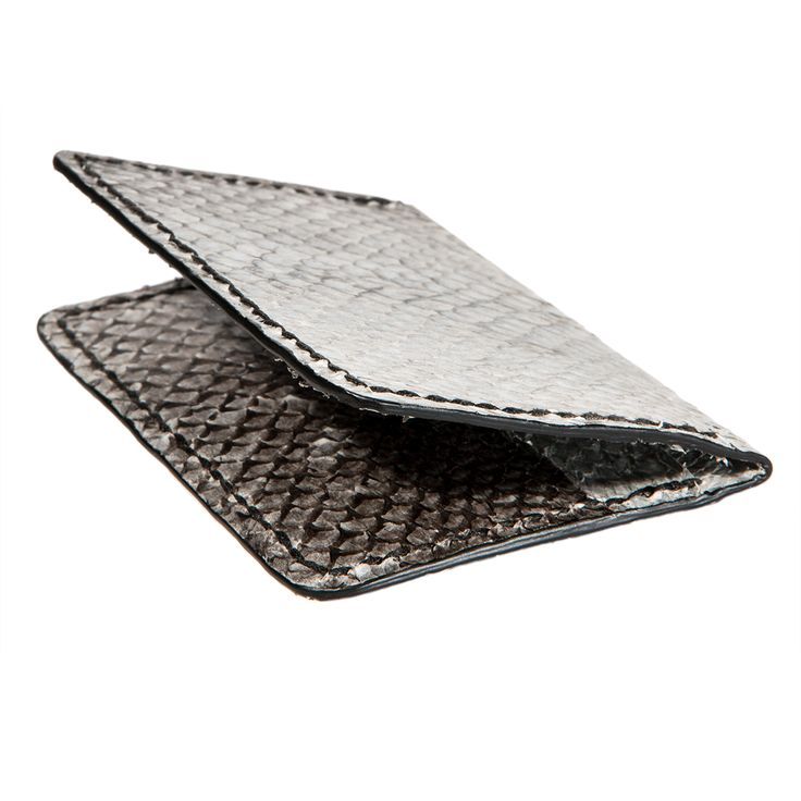 Fish leather wallet - Eco wallet - bifold card walllet from salmon  #fishskin #fishleather