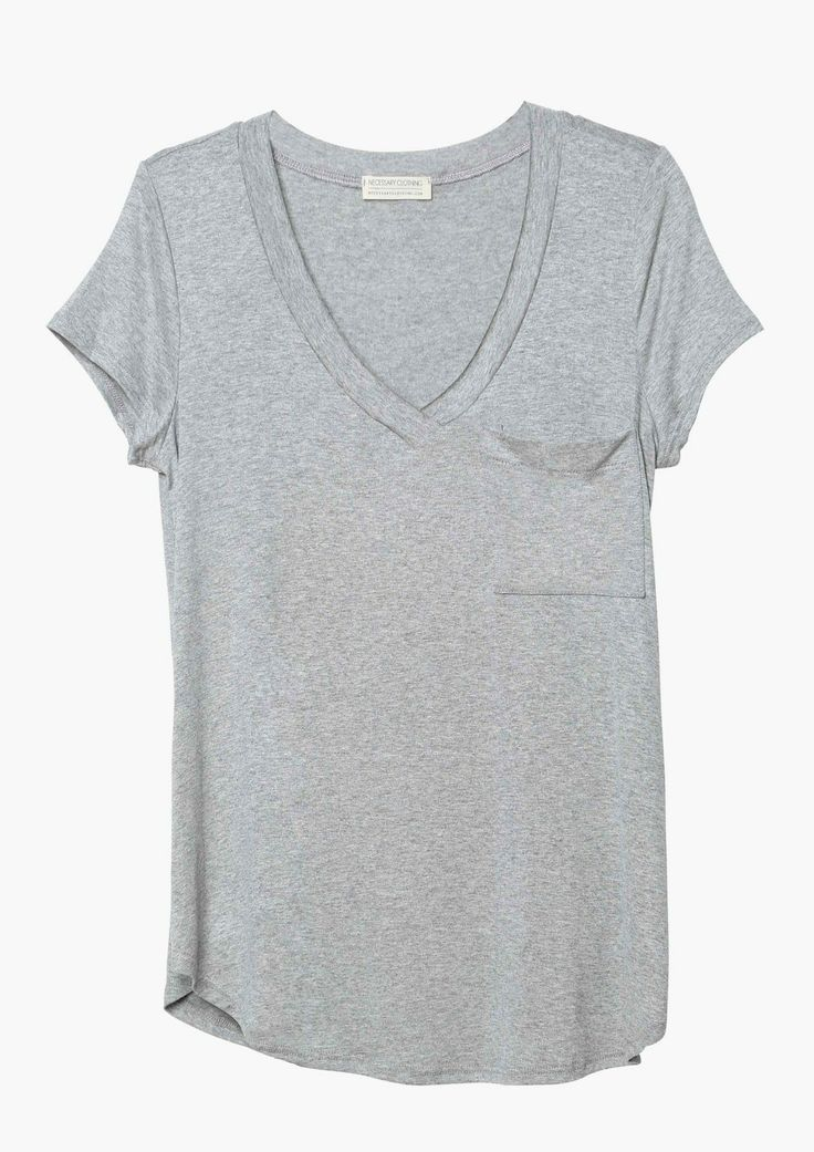 perfect tee. looks cool by itself, or under a leather biker jacket or blazer!! must have