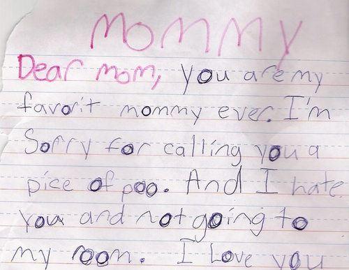 Hairstyle 6 Letters: A Letter Harry Wrote His Mommy When He Was Younger!!