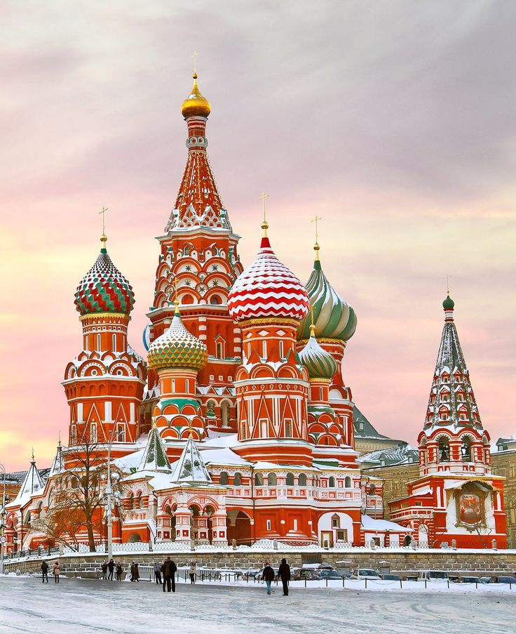 St. Basil's Cathedral / This colorful church in Moscow was built to look like a bonfire reaching up toward the sky.
