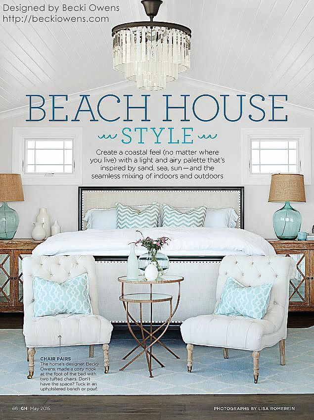 Beach house style from Sarah Richardson board. Becki Owens Design