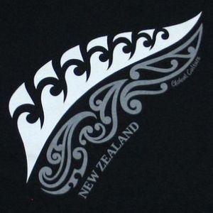 Great Maori design of NZ Silver Fern.  Hmmmm maybe I have found my tattoo???