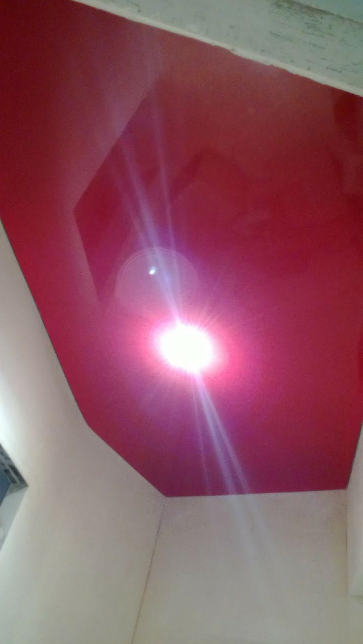 Красный потолок в офисе / L 11 / Глянцевый Потолок / Натяжной Потолок Цена / Ремонт / Натяжной Потолок Стоимость / Натяжной Потолок / Потоло...