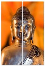 Metal Buddha, Set of 2 (Diptych) art on canvas from http://www.thecanvasartfactory ships worldwide!  #art #stones #spirituality #calm #peace #focus #zen #orange #photography #home #decor #wallart