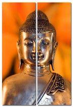 Metal Buddha, Set of 2 (Diptych) art on canvas from http://www.thecanvasartfactory ships worldwide!  #art #stones #spirituality #calm #peace #focus #zen #orange #photography #home #decor #wallart