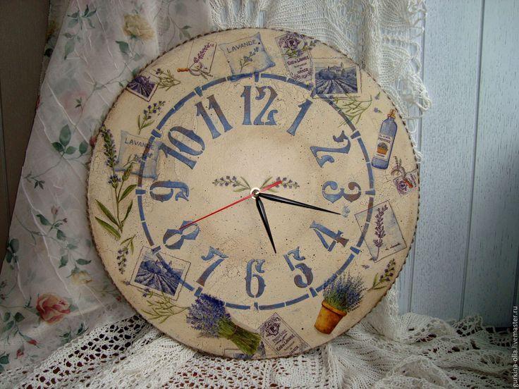 """Купить Большие часы """" Лавандовый прованс"""" 40 см - прованс, большие часы"""