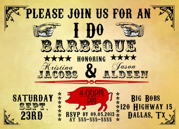 33 best I DO BBQ Invitations images on Pinterest Barbecue - bbq invitation template