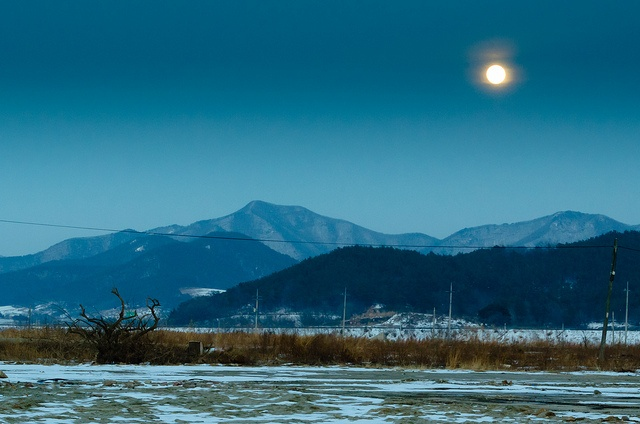 by adamglennphotography..Buan, Korea, moonrise
