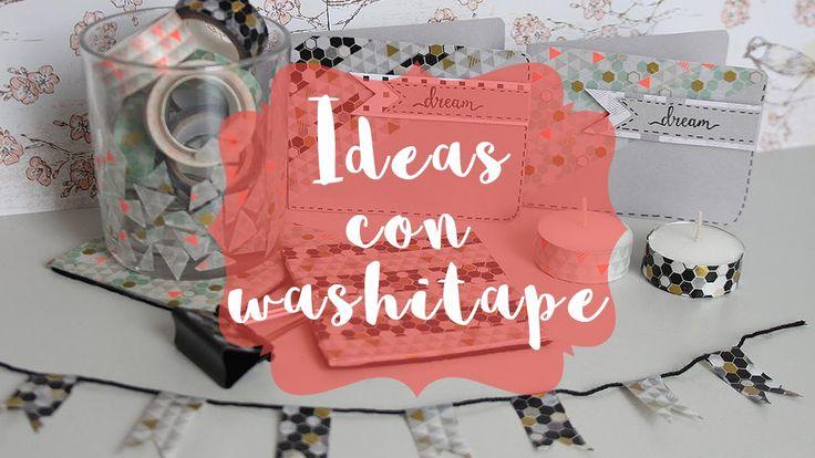 Ideas y manualidades fáciles con washi tape #tutoriales #manualidades #crafts #washitape #diy #handmade #posavasos #velas #tarjetas