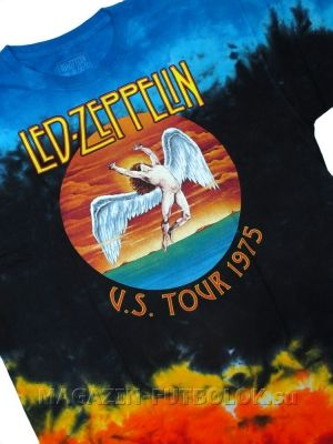 футболка led  zeppelin tour 1975