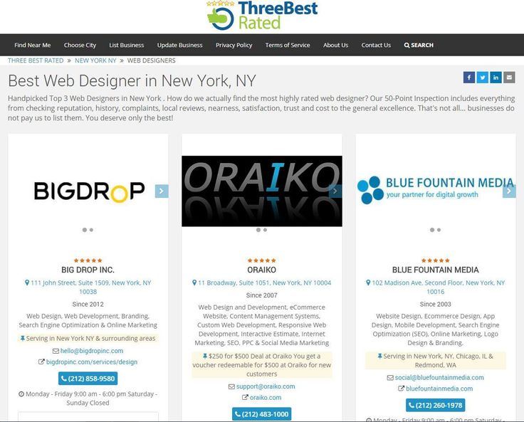 ORAIKO is officially chosen to be among the Three Best Web Designers in New York!  #WebDesign #WebDevelopment #InternetMarketing #SoftwareDevelopment #NYC #NewYorkCity #Design #Development #Coding #SocialMedia #SEO #PPC #eCommerce #ResponsiveWeb #MobileApplication #ContentManagementSystems