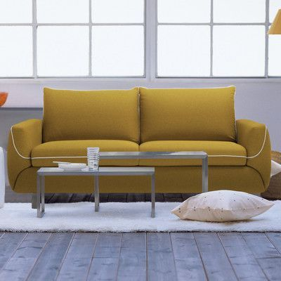 Pezzan USA Maestro Queen Sleeper Sofa Upholstery: Summer Orange
