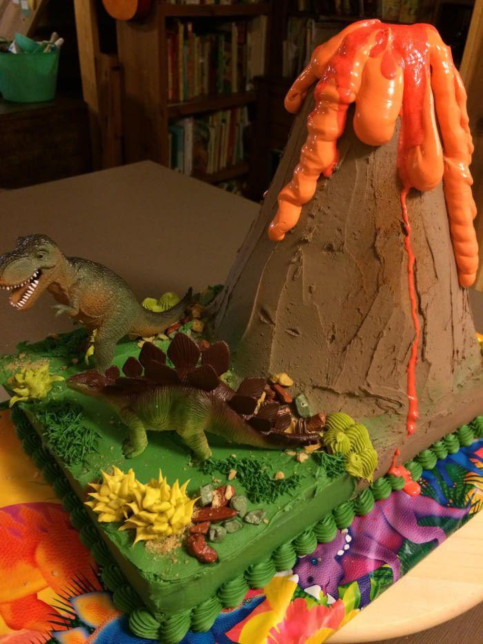 Volcano cake for my 5 yo son