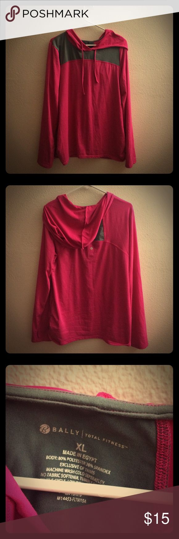 Pink thin hoodie! Bought and never worn! Super thin and fun to just throw on! Made in Egypt! Bally Tops Sweatshirts & Hoodies