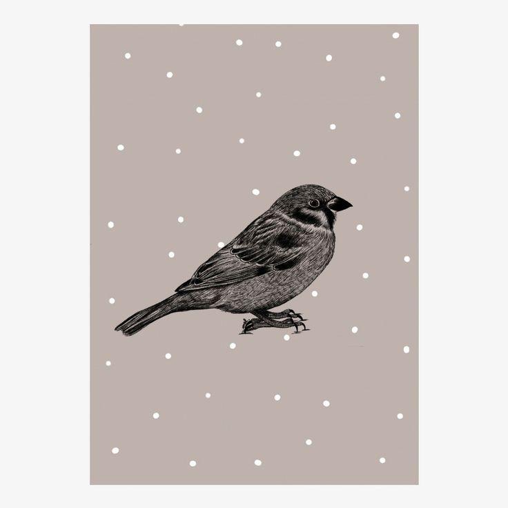 Minimel Birdy artwork - size A4   room to decorate   scandinavian and vintage designed homewares - online shop