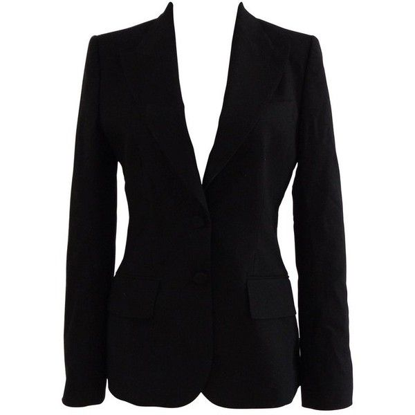 Preowned Dolce & Gabbana Black Cotton Jacket ($597) ❤ liked on Polyvore featuring outerwear, jackets, black, blazers, cotton blazer, cotton lined jacket, leopard jacket, leopard print blazer and leopard blazer