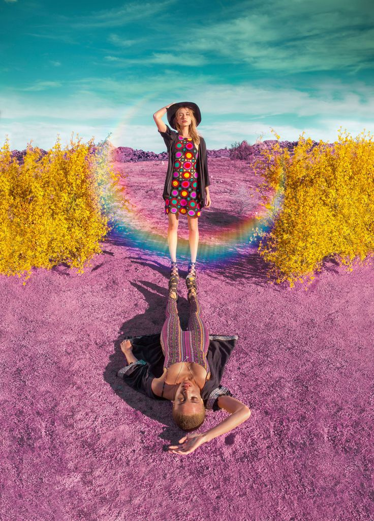 H&M TOOK A PSYCHEDELIC TURN FOR THEIR COACHELLA CAMPAIGN, STARRING IT-GIRL HAILEY BALDWIN.