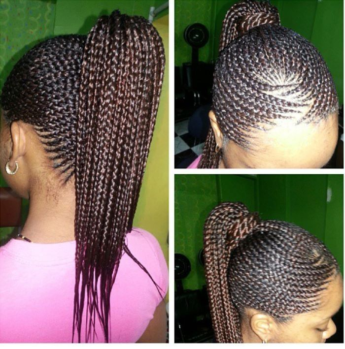 Cornrows Up In A Ponytail All About Hair Pinterest