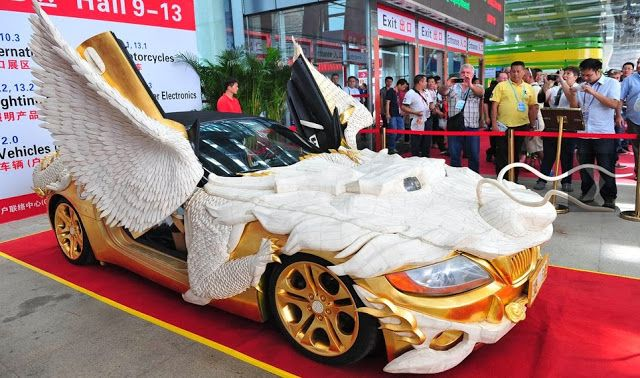 AMAZING PIKCHAZ | COOL: A CHINESE DREAM CAR - THE GOLDEN FLYING DRAGON CAR