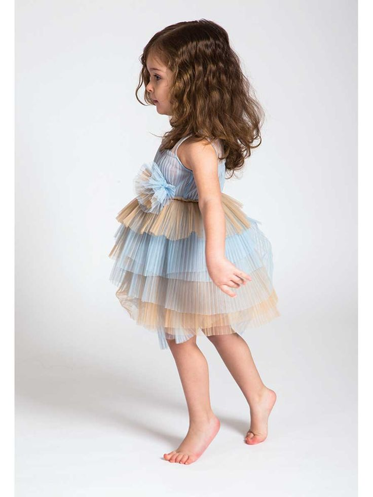 Layers dress #tulle #pink #blue