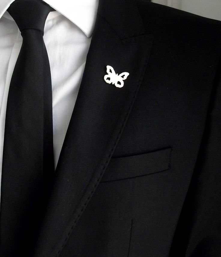 Groom's boutonniere, tie tack, groom's pin, gentleman brooch, men accessories, suit pin, minimalistic lapel pin, wedding boutonniere by LakaLuka on Etsy