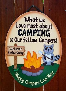 Family - Camping Sign